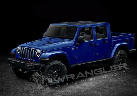 jeep wrangler pickup truck   named scrambler   diesel sort  confirmed carscoops