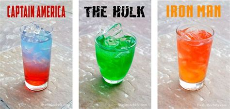 american alcoholic drinks avengers party drinks five little chefs