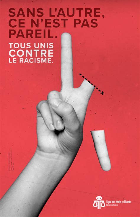 saffiche contre le racisme ligue des droits