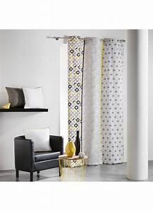 Rideau Jaune Et Gris : rideau en coton rayures verticales graphiques gris jaune rose menthe gris naturel ~ Teatrodelosmanantiales.com Idées de Décoration