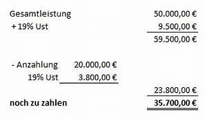Rechnung Mit Anzahlung : buchen von erhaltenen anzahlungen ~ Themetempest.com Abrechnung