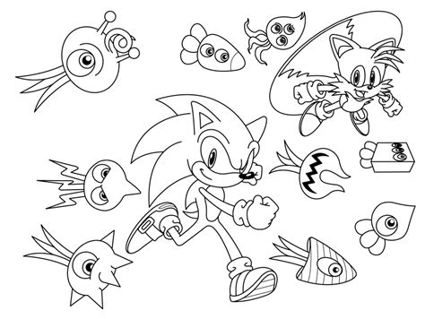 Classic Tails The Fox Coloring Pages