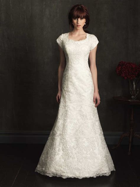 modest lace wedding dresses dresscab
