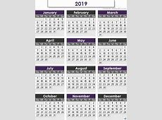 Islamic Calendar 2019 – printable weekly calendar