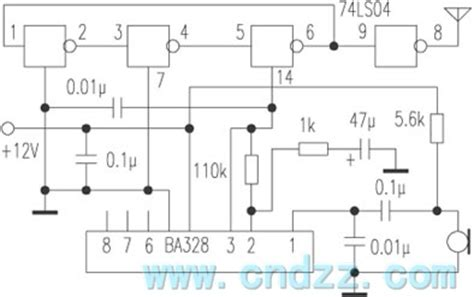 Wireless Microphone Circuit With Nand Gate Basic