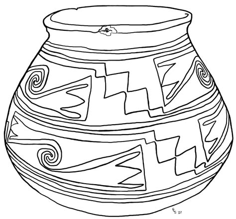 pottery pot coloring pages teaching ideas coloring