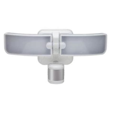 defiant led security light defiant 180 degree white led blade motion outdoor security
