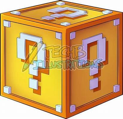 Block Lucky Icon Minecraft Transparent Clip Vectorified