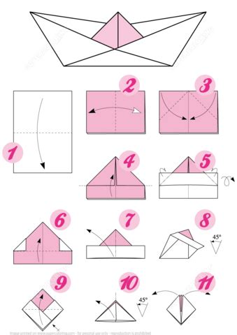 Origami Boat Step By Step by Origami Boat Free Printable Papercraft