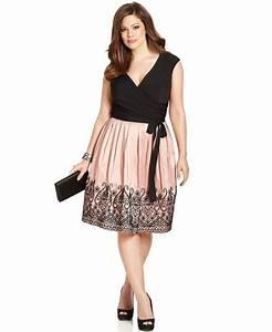 SL Fashions Plus Size Embroidered Pleat Dress - Plus Size ...