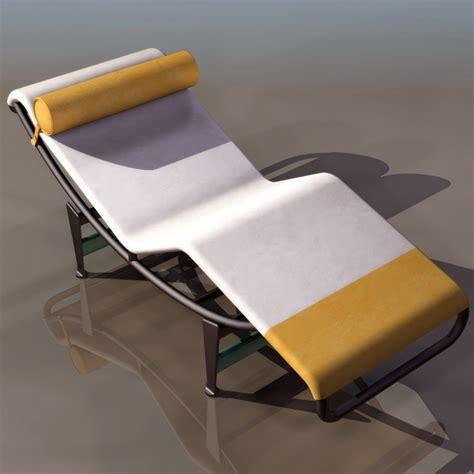 les 3 suisses chaises le corbusier chaise longue 3d model 3ds files free