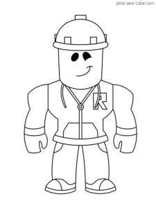 printable roblox ninja coloring page