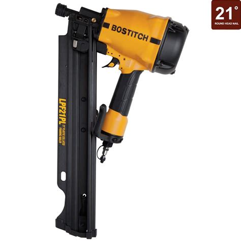 bostitch floor nailer home depot bostitch 3 1 4 in 21 degree low profile framing nailer