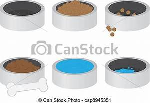 Dog Food And Water Clipart - Clipart Suggest