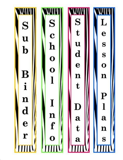 binder spine template shatterlioninfo
