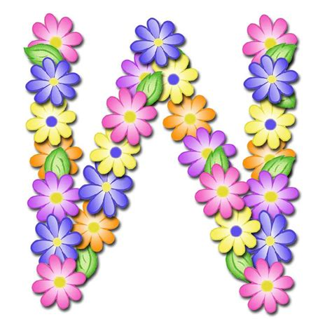 alfabeto de primavera letras em png muito lindo letras em png  fundo transparente