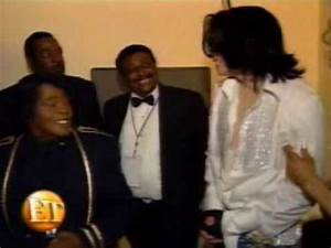 Michael Jackson and James Brown, Backstage at BET Awards ...
