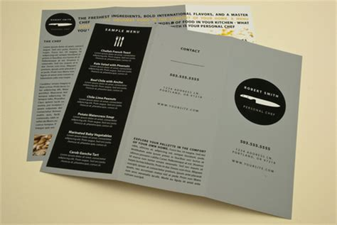 personal chef service brochure template inkd