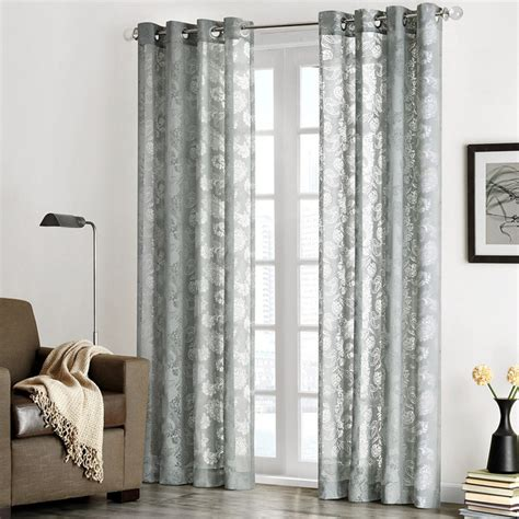 park chace burnout paisley print sheer curtain