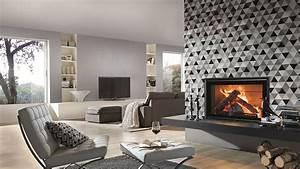 Papier Peint Motif Geometrique : deco salon papier peint ~ Dailycaller-alerts.com Idées de Décoration
