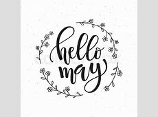 Hand sketched Hello May text as Stock Vector Colourbox