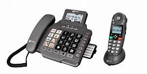 Combiné Téléphone Fixe : ampli dect combi 355 t l phone combin san fil et fixe pour malentendants ~ Medecine-chirurgie-esthetiques.com Avis de Voitures