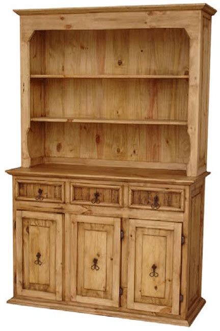 Wooden China Cabinet by Rustico Pine Wood Small China Cabinet