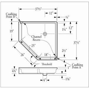 Florestone Saflor Molded NEO Angle Corner Shower Receptor