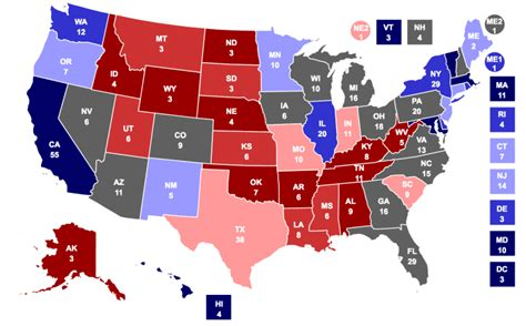 trump election map electoral chances donald rise general rcp been