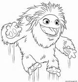 Abominable Coloring Yeti Everest Printable Coloriage Compagnie Easy Getcoloringpages Printables Colouring Jumping Cartoon Yi sketch template