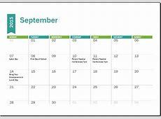 MS Excel Academic Calendar Template 20182019 Word