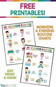 Positive Behavior Charts For Toddlers Kids Daily Routine Chart Free Printable Daily Routine
