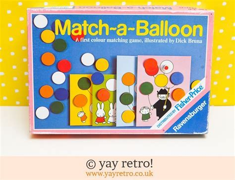 Miffy Match a Balloon Game 1973   Vintage Shop, Retro
