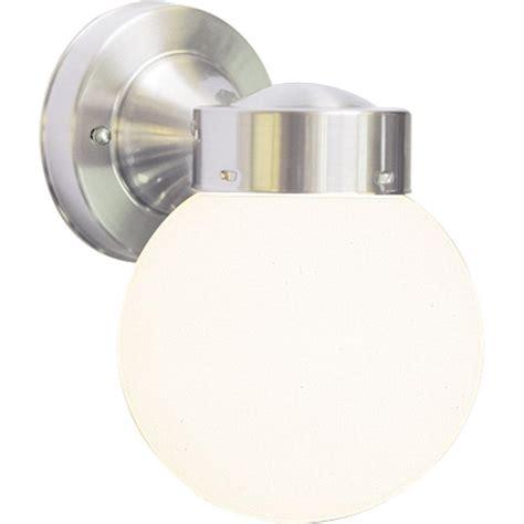 volume lighting 1 light brushed nickel outdoor wall mount