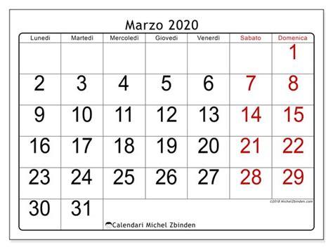 foto de Calendario marzo 2020 (62LD) Calendario Calendari
