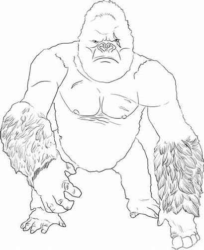 Kong King Dibujos Colorear Coloring Coloriage Dessin