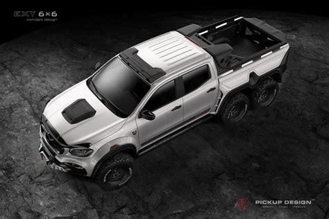Offroad #mercedes #mercedesxclass vehicle info: Mercedes-Benz X-Class EXY 6x6 by Pickup Design 2018 года выпуска. Фото 5. VERcity