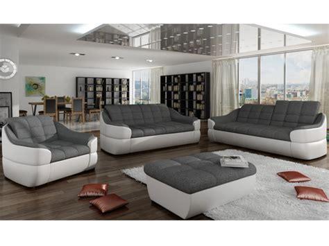 canapé noir et blanc canapé en tissu et simili gris blanc ou gris noir farez