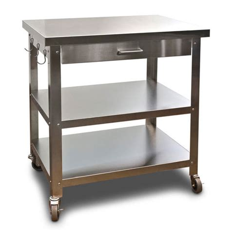 kitchen island cart with stainless steel top kitchen islands danver commercial mobile kitchen carts