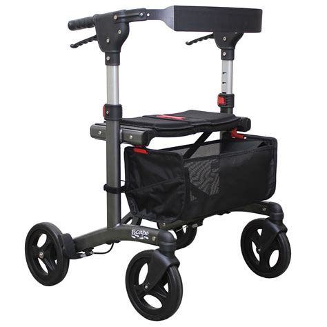 maxiaids escape rollator standard 24 in seat height