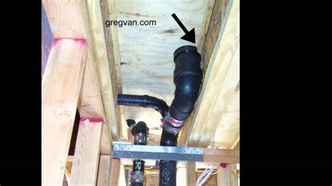 installing shower damaged truss joist by plumber framing and plumbing