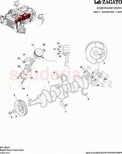 Aston Martin V12 Zagato Engine Power Conversion Parts
