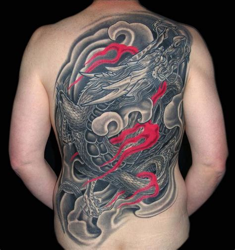 black  grey asian dragon  piece  aaron goolsby tattoos