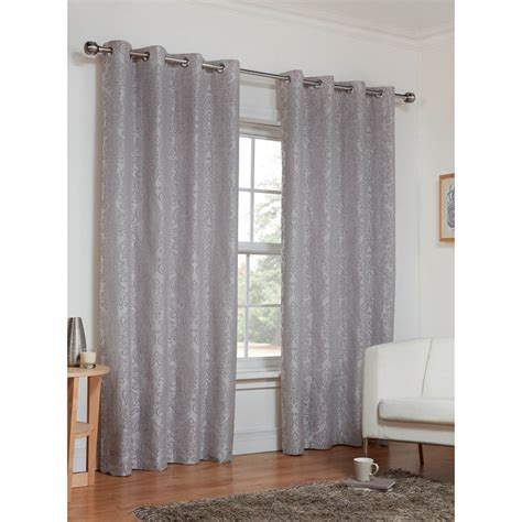 dorchester damask fully lined curtains    home bm