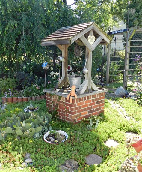 Garden Decoration Free by Garden Wishing Well Larry Made The Wishing Well From An