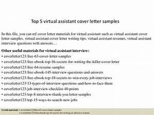 top 5 virtual assistant cover letter samples With sample cover letter for virtual assistant