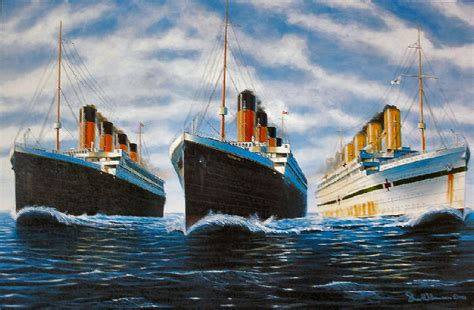 Titanic Sister Boat Name by The Three Sister Ships Ships Olympic Class Liner