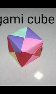 how to make Origami 3D Cube - YouTube