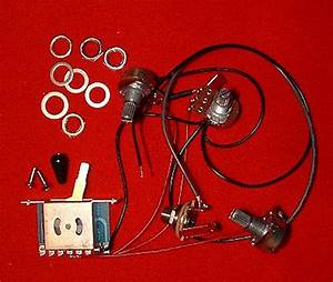 Guitar Parts Stratocaster Strat Wiring Harness Kit 1 Vol 2