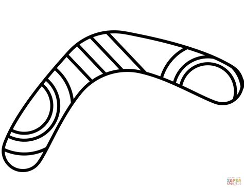 boomerang coloring page  printable coloring pages